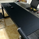 custom giant black mouse pad for your table or desk