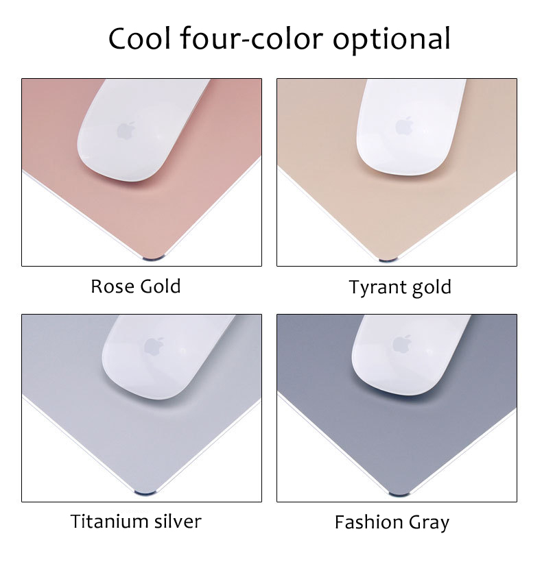 Aluminum mouse pads with different color