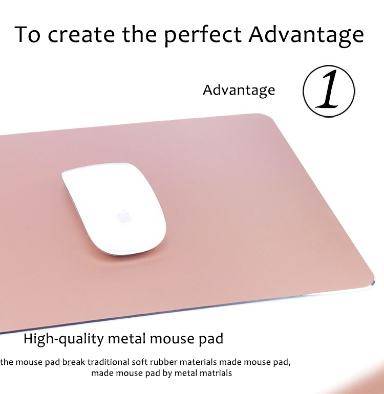 Aluminum mouse pad rose gold advantage 01