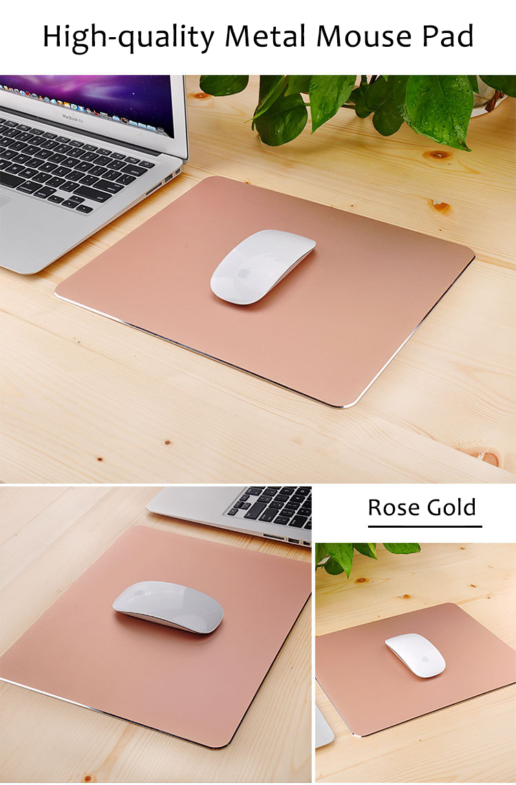 metal mouse pad rose gold color