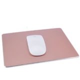 Rose gold color Aluminium mouse pad