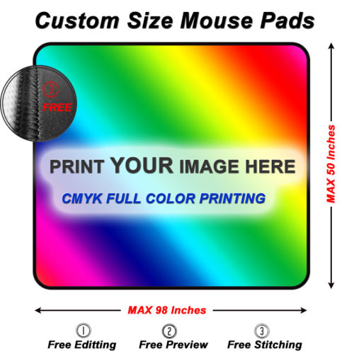 Custom Size mouse pads Size Guide