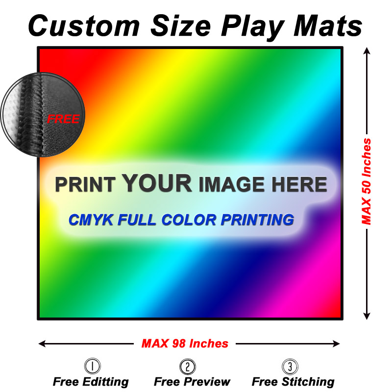 Custom playmats size guide