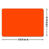 Large orange mouse pad, size 500mm by 300mm