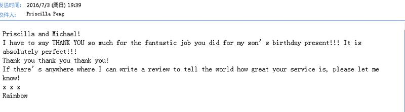 Feedback via email