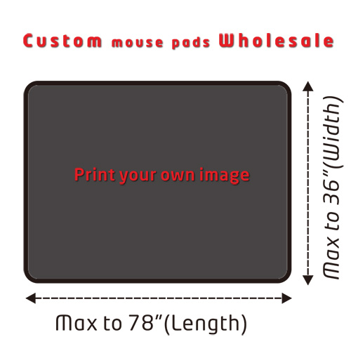 Wholesale Custom printed mouse pads with your logo, sizes, artworks