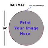 Custom print 10 inches Dab-mat