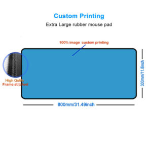 Custom print 31.5 inches long giant mousepad with bulk