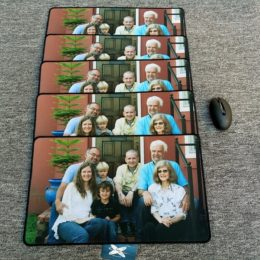 My family with my mum photo mouse pad