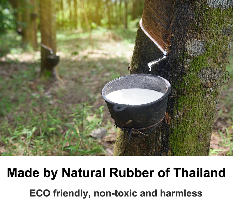 Made by natural rubber of Thailand