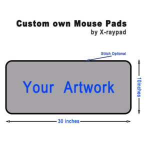 30in by 10in custom own long mouse pads bulk