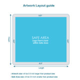 Artwork Layout guide of full color aluminum mat