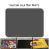 custom size bar mats
