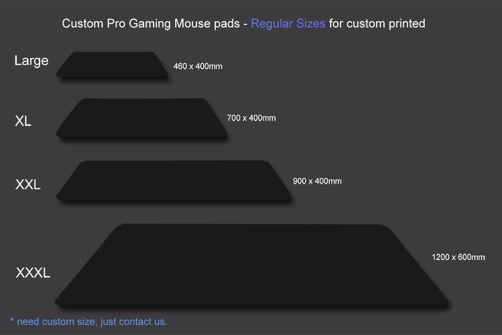Custom pro gaming mouse pad regular sizes