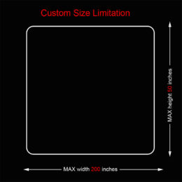 Custom cutting Size Limitation of table mat or deskpad