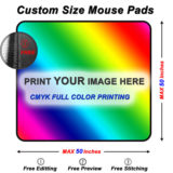 Custom Square mouse pads Sizes Guide