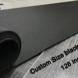 custom largest black rubber mat for table