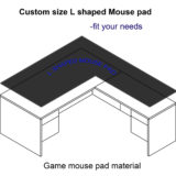 custom mouse pad for l shape desk