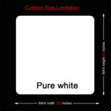 Custom Size Limitation of white mouse pads