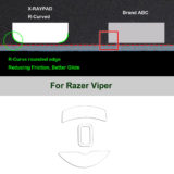 R curve mouse-skates for Razer Viper