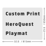 Custom print Heroquest playmat