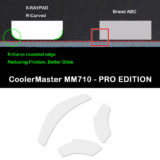 R curve mouse-skates for Cooler Master MM710