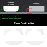 R curve mouse-skates for Razer DeathAdder