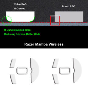 R curve mouse-skates for Razer MAMBA wireless