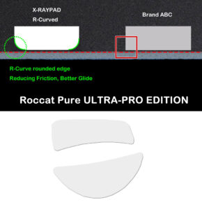 R curve mouse-skates for Roccat Pure ULTRA