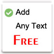 Add Any Text Free