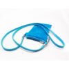 Sky blue Small Crossbody Cell Phone Purse Velvet Fabric Mini Shoulder Handbag For Girl