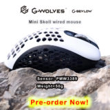 Mini Skoll white black gaming mouse